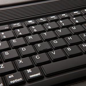 iPad keyboard closeup
